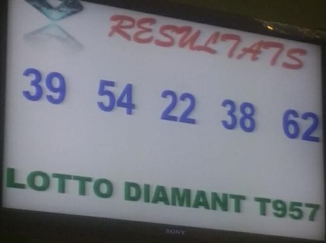 Les numéros gagnants du lotto Diamant tirage 957