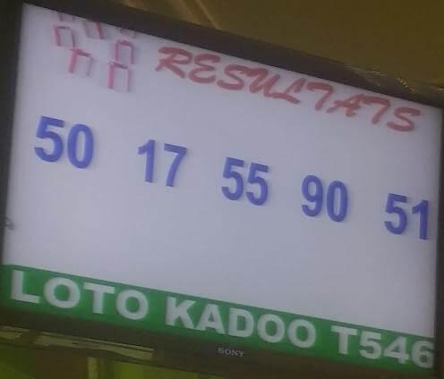 Les numéros gagnants du loto Kadoo tirage 546 du 07 juin 2019