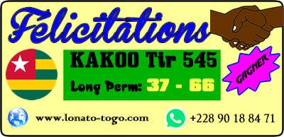 Victoire lors du tirage 545 du lotto Kadoo de ce 31 mai 2019