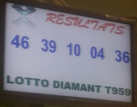 Numéros gagnants du jeu loto Diamant tirage 959