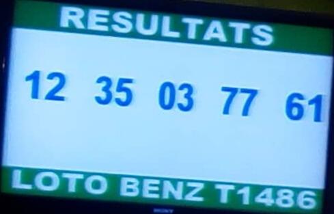 Les numéros gagnants du lotto Benz tirage 1486