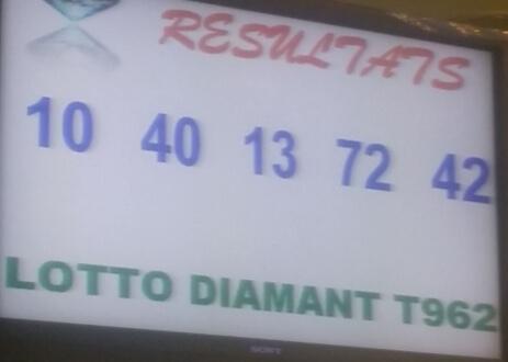 Numéros gagnants du loto Diamant tirage 962