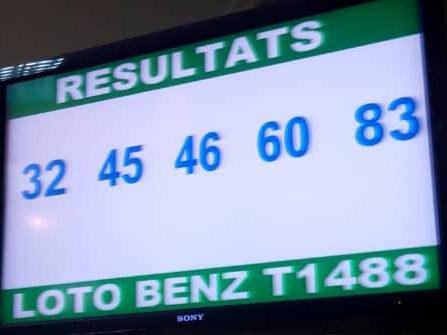 Numéros gagnants du loto Benz tirage 1488