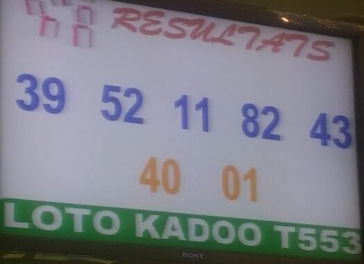 Numéros gagnants du loto Kadoo tirage 553 de ce vendredi 26 juillet 2019.