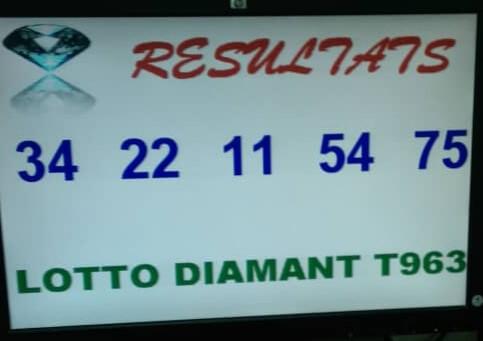 Numéros gagnants lotto Diamant tirage 963