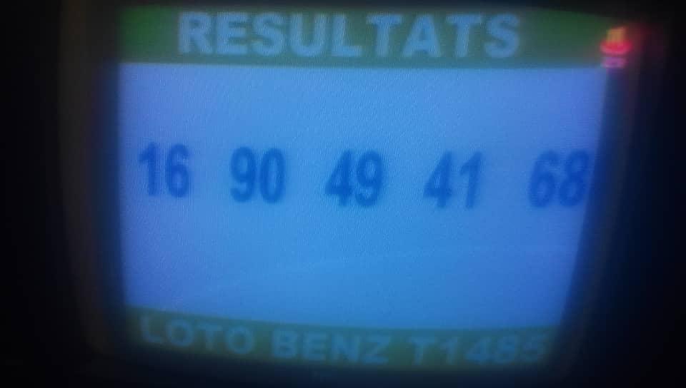 Numéro gagnants au loto Benz tirage 1485