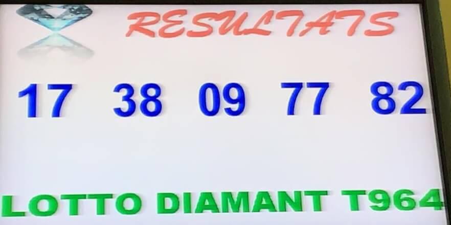 Numéros gagnants du lotto Diamant tirage 964