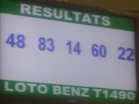 Numéros gagnants du lotto Benz tirage 1490