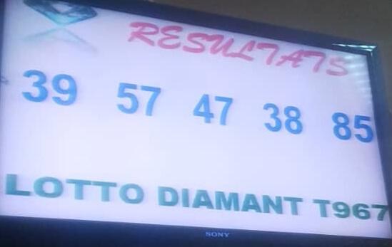 Numéros gagnants du lotto Diamant tirage 967.