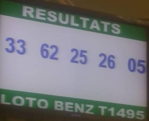 Numéros gagnants du lotto Benz tirage 1495