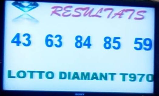 Numéros gagnants du lotto Diamant tirage 970
