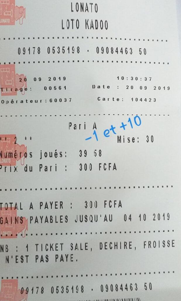 Pronostics, jeux pour le lotto kadoo tirage 561
