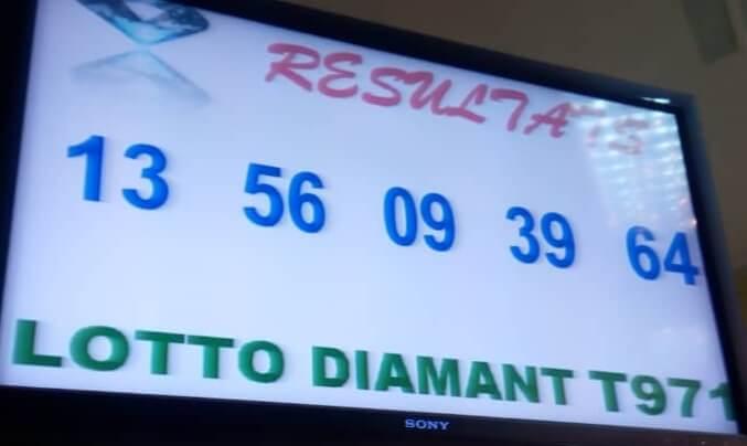 Numéros gagnants du lotto Diamant tirage 971