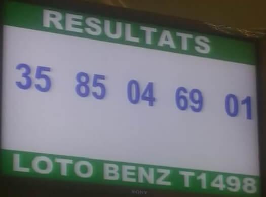 Numéros gagnants du lotto Benz tirage 1498