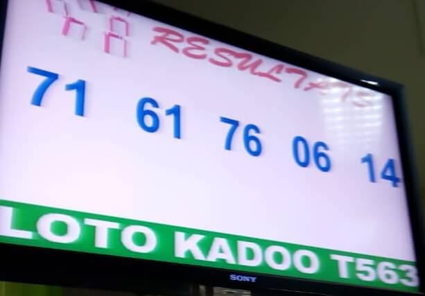 Numéros gagnants du lotto Kadoo tirage 563