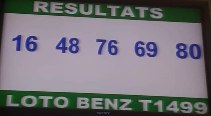 Numéros gagnants du lotto Benz tirage 1499