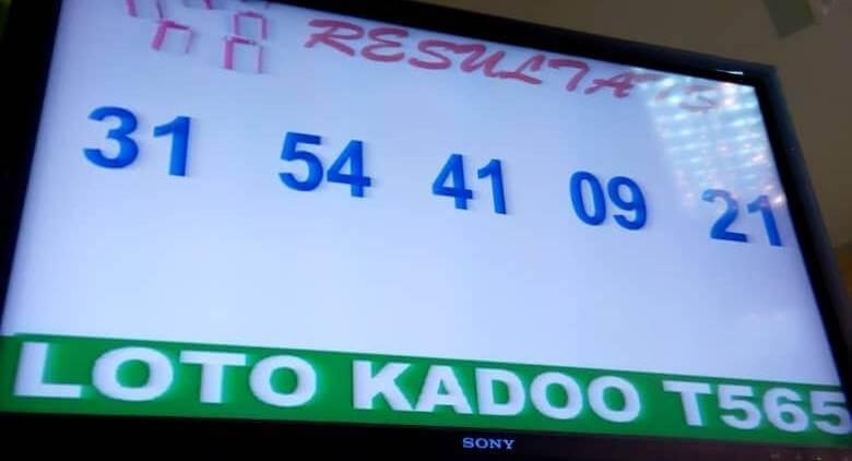 Numéros gagnants du lotto Kadoo tirage 565