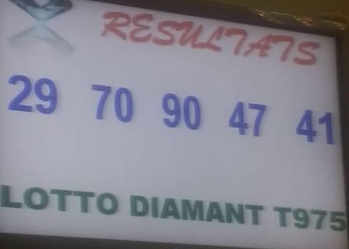 Numéros gagnants du lotto Diamant tirage 975