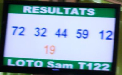 Numéros gagnants lotto Sam tirage 122
