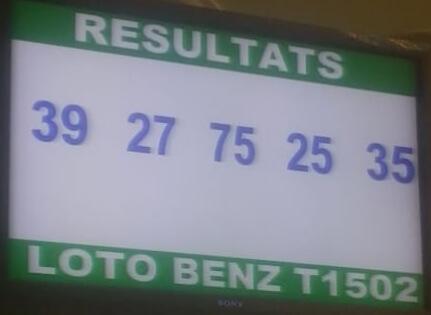 Numéros gagnants du lotto Benz tirage 1502