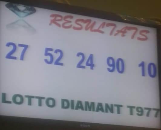 Numéros gagnants du lotto Diamant tirage 977