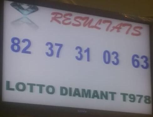 Numéros gagnants du lotto Diamant tirage 978