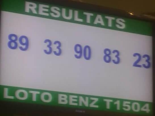 Résultats ou numéros gagnants du lotto Benz tirage 1504
