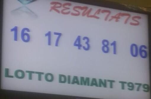 Numéros gagnants du loto Diamant tirage 979