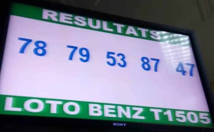 Numéros gagnants ou résultats du lotto Benz tirage 1505