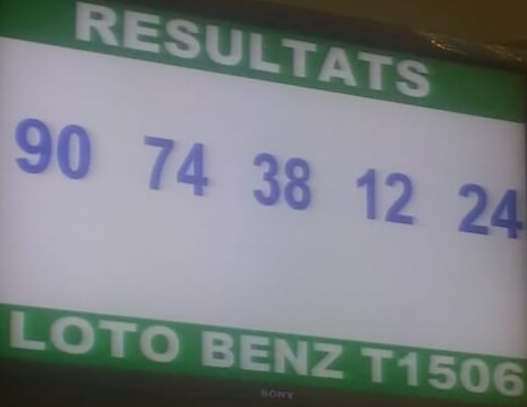 Résultats ou numéros gagnants du lotto Benz tirage 1506.