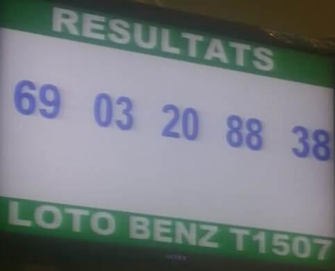 Numéros gagnants du loto Benz tirage 1507