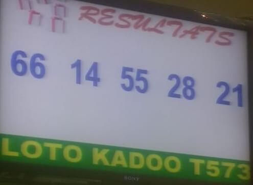 Numéros gagnants du lotto Kadoo tirage 573