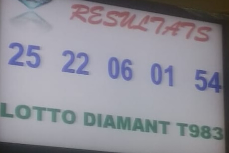 Numeros gagnants lotto Diamant tirage 973