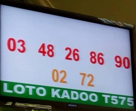 Résultats loto Kadoo tirage 575