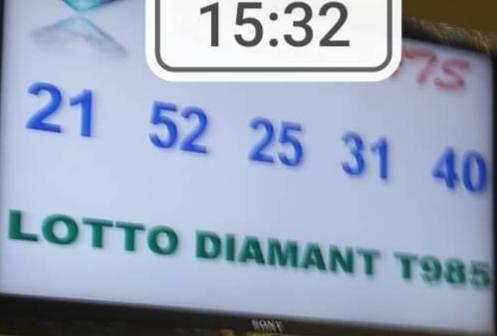 Numéros gagnants ou résultats du lotto Diamant tirage 985