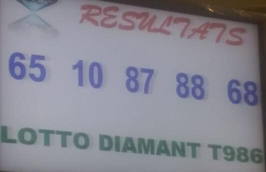 Numéros gagnants ou résultats du lotto Diamant tirage 986