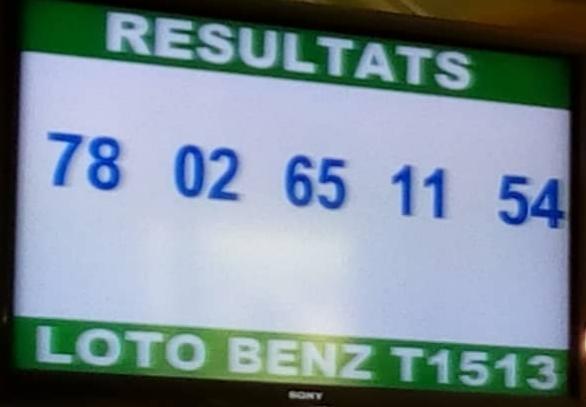 Résultats ou numéros gagnants du lotto Benz tirage 1513