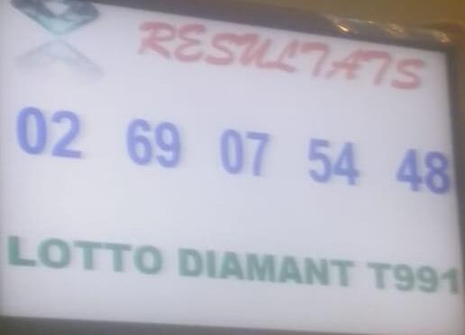 Numéros gagnants lotto DIAMANT tirage 991