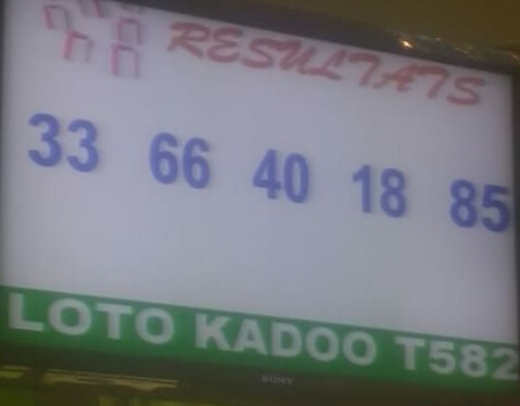 Numéros gagnants ou résultats du lotto Kadoo tirage 582