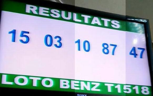 Numéros gagnants ou résultats du loto Benz tirage 1518