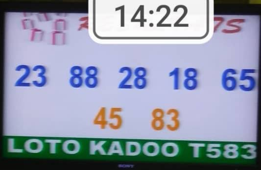Numéros gagnants ou Résultats du loto Kadoo tirage 583