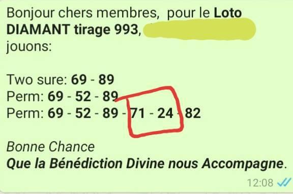 Pronostics pour le lotto Diamant tirage 993