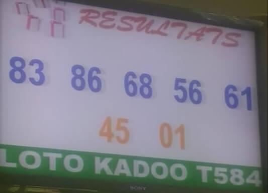Numéros gagnants ou résultats du loto Kadoo tirage 584