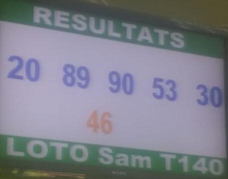 Résultats ou numéros gagnants du loto Sam ne 140