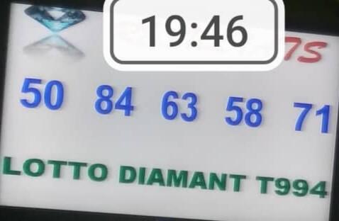 Numéros gagnants du lotto Diamant tirage 994
