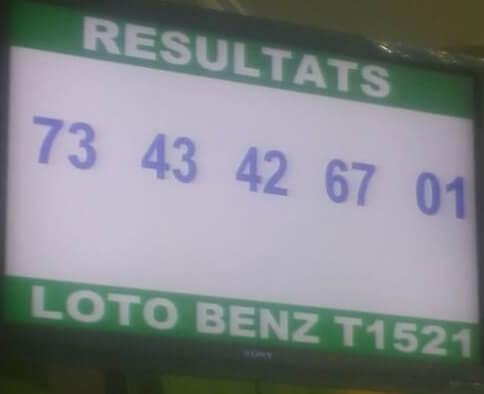 Numéros gagnants du loto Benz tirage 1521
