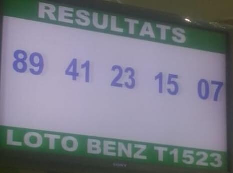 Numéros gagnants ou résultats du loto Benz tirage 1523