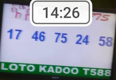 Résultats du loto Kadoo tirage 588