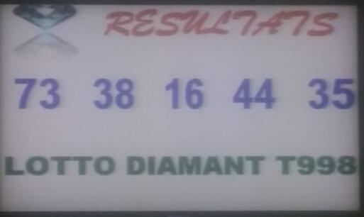 Numéros gagnants du loto Diamant tirage 998