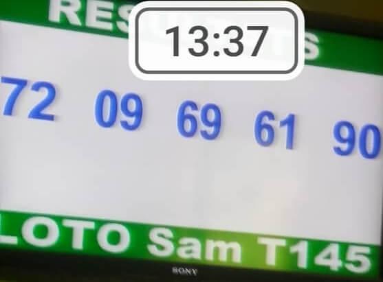 Numéros gagnants du loto SAM tirage 145